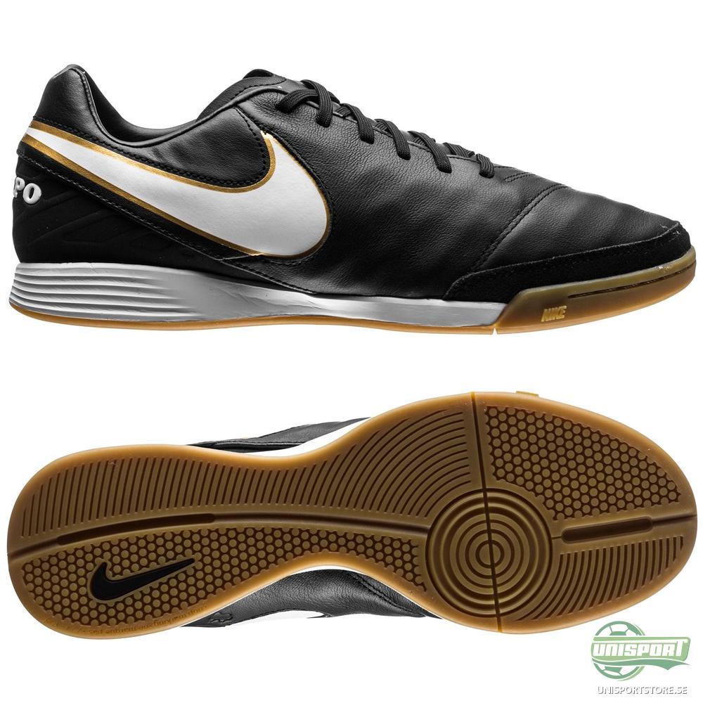 Nike Tiempo Mystic V IC Svart/Vit/Guld