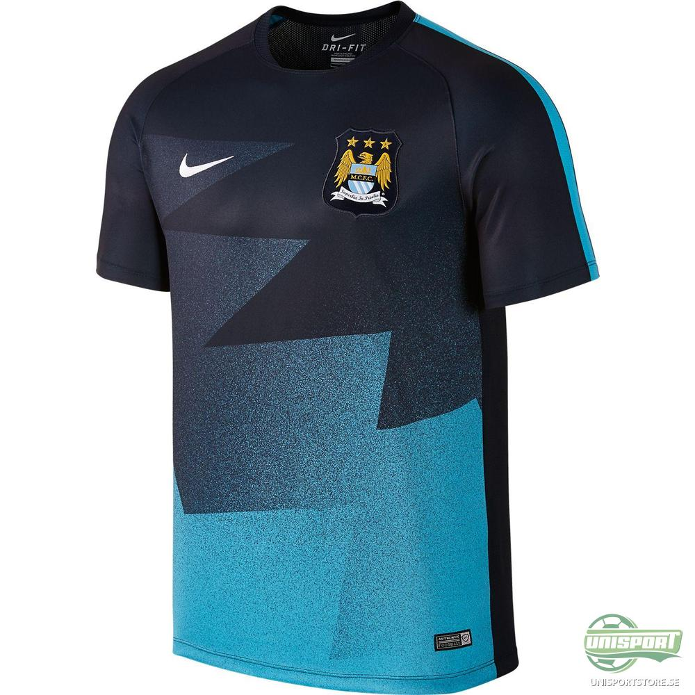 Manchester City Träning T-Shirt Flash Pre-Match Svart/Blå