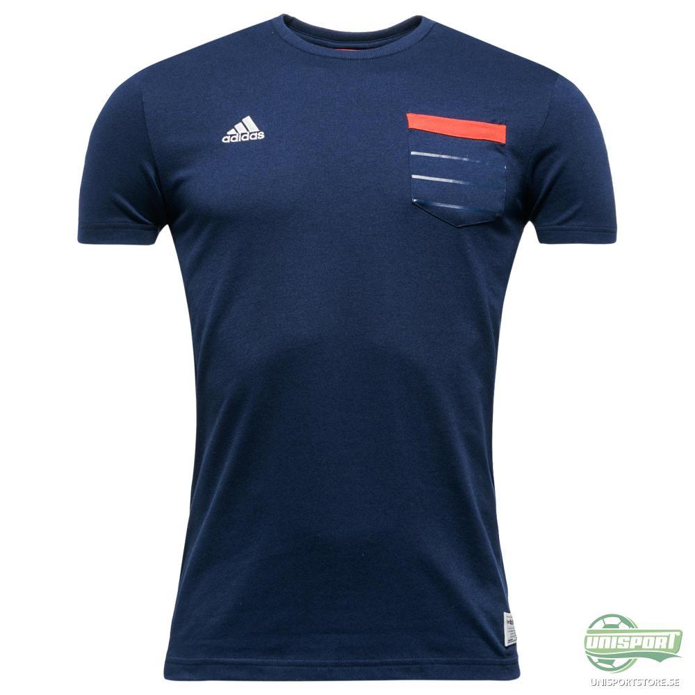 adidas T-Shirt All Bleus Blå