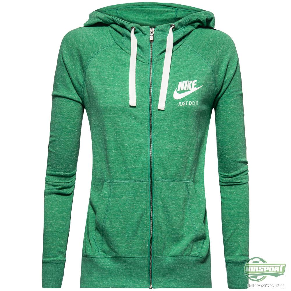 Nike Luvtröja Gym Vintage Grön Dam