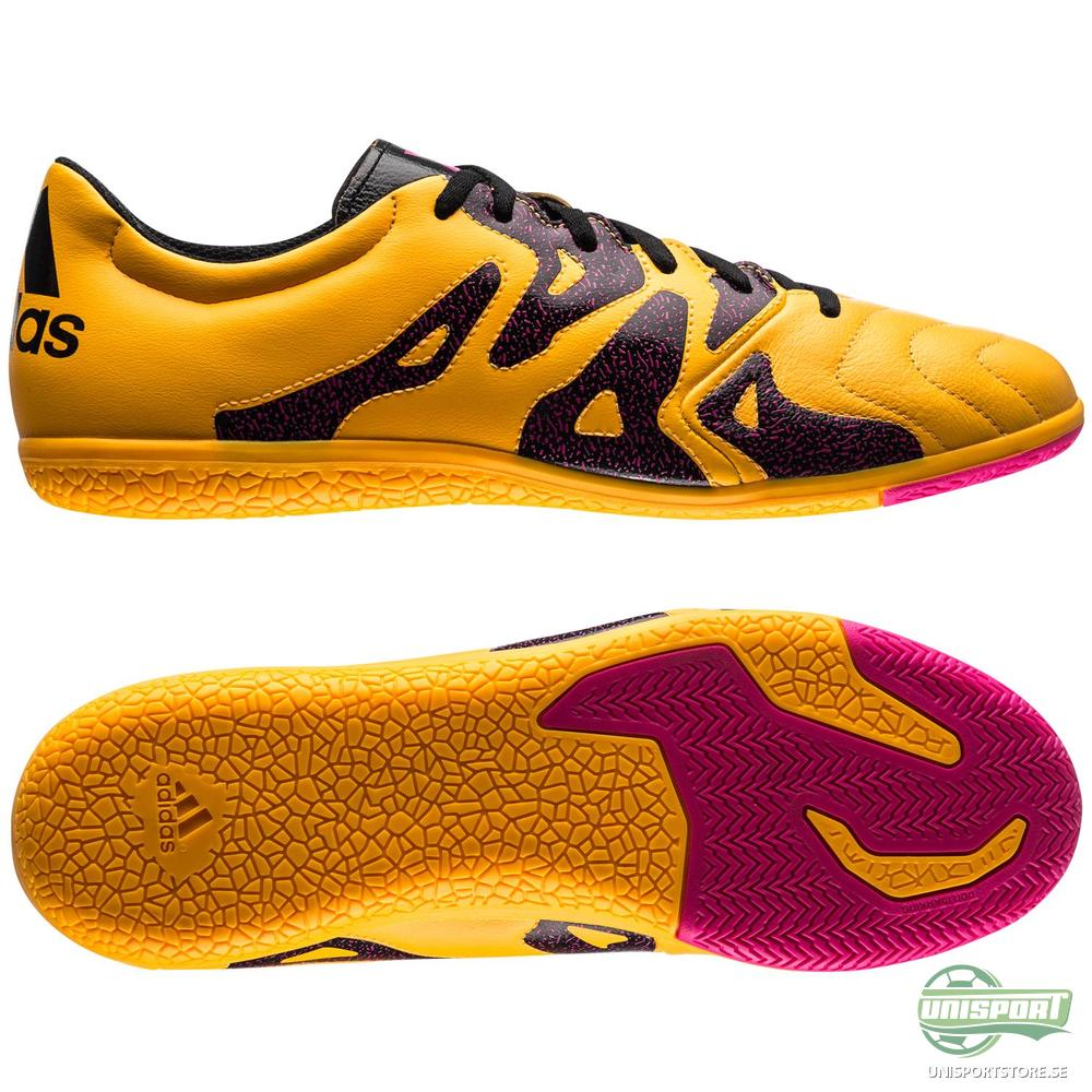 adidas X 15.3 Läder IN Gul/Rosa/Svart