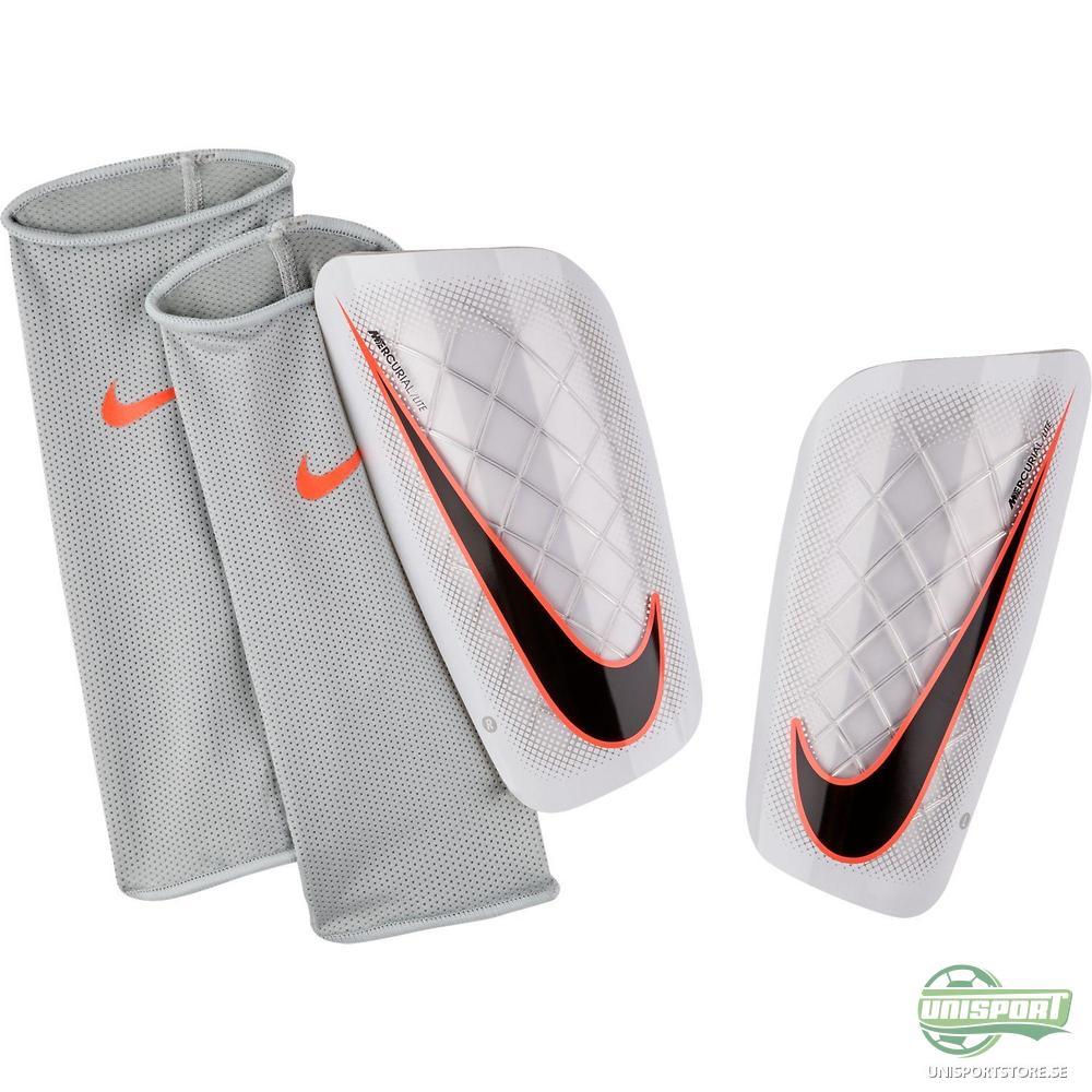 Nike Mercurial Lite Benskydd Vit/Orange