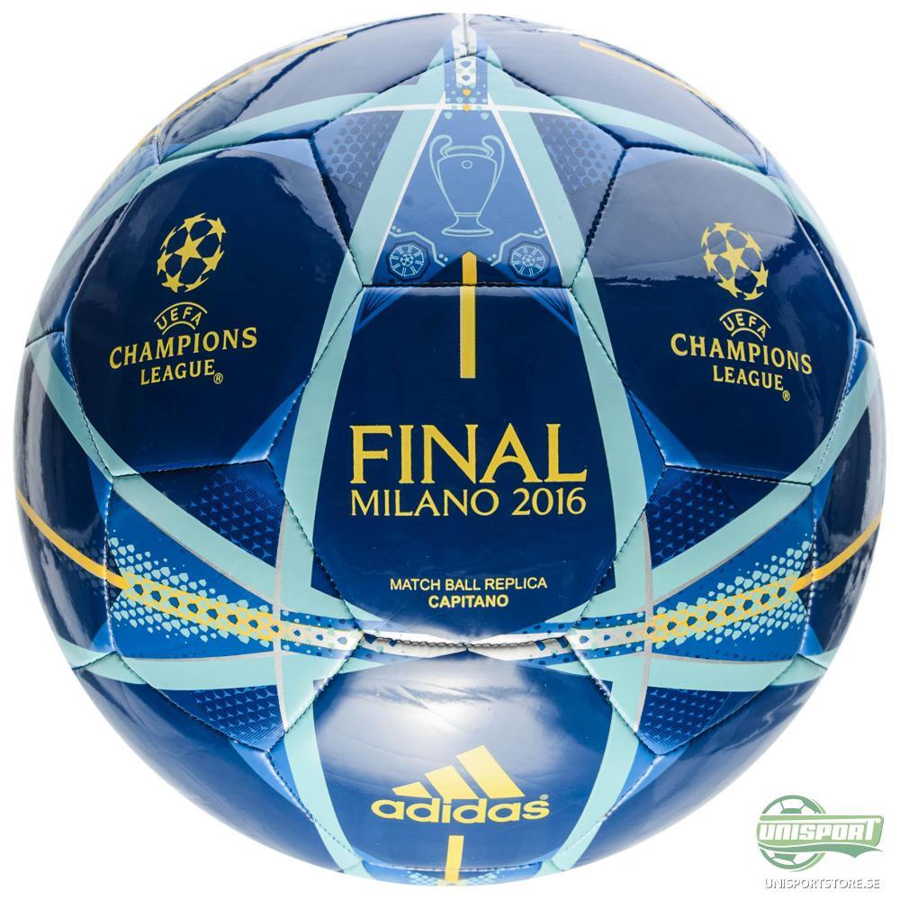 adidas Fotboll Champions League Finale 2016 Milano Capitano Blå/Guld