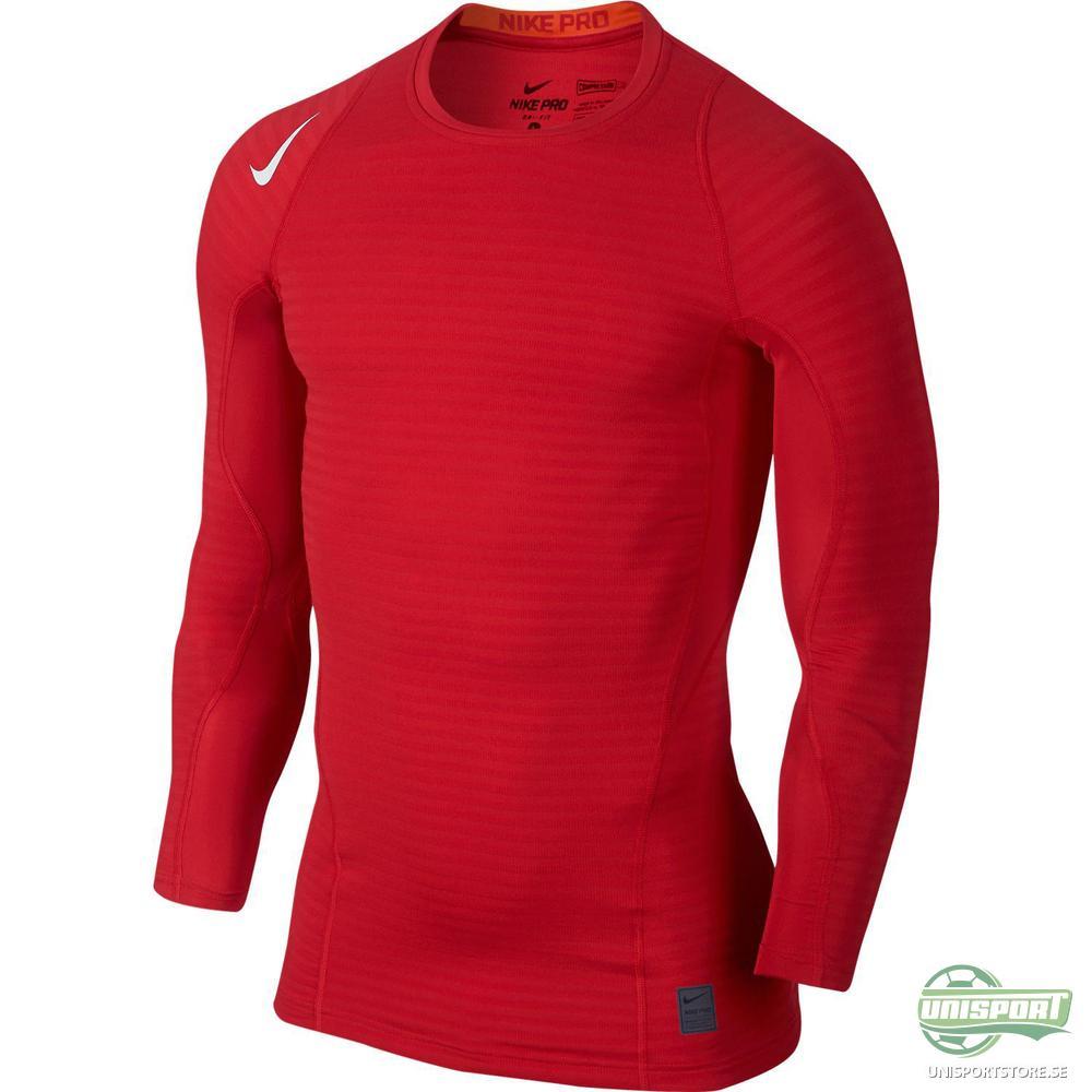 Nike Pro Warm Compression Crew Röd