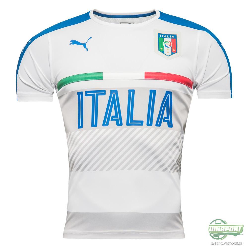 Italien Tränings T-Shirt Vit/Blå Barn