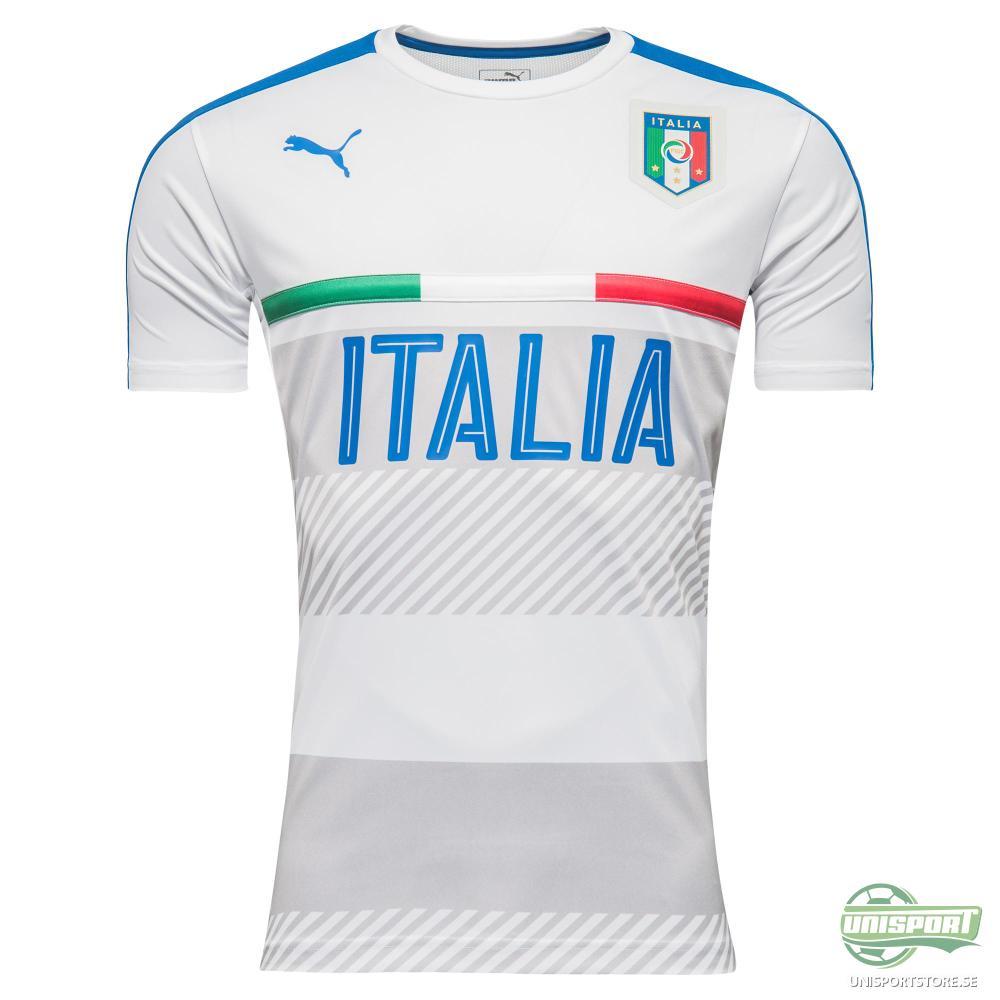 Italien Tränings T-Shirt Vit/Blå