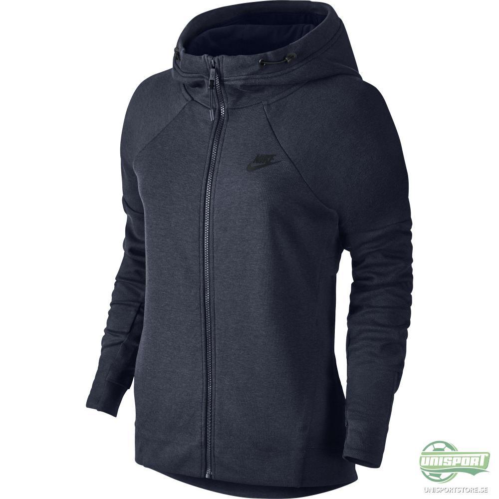 Nike Luvtröja Tech Fleece Navy/Svart Dam