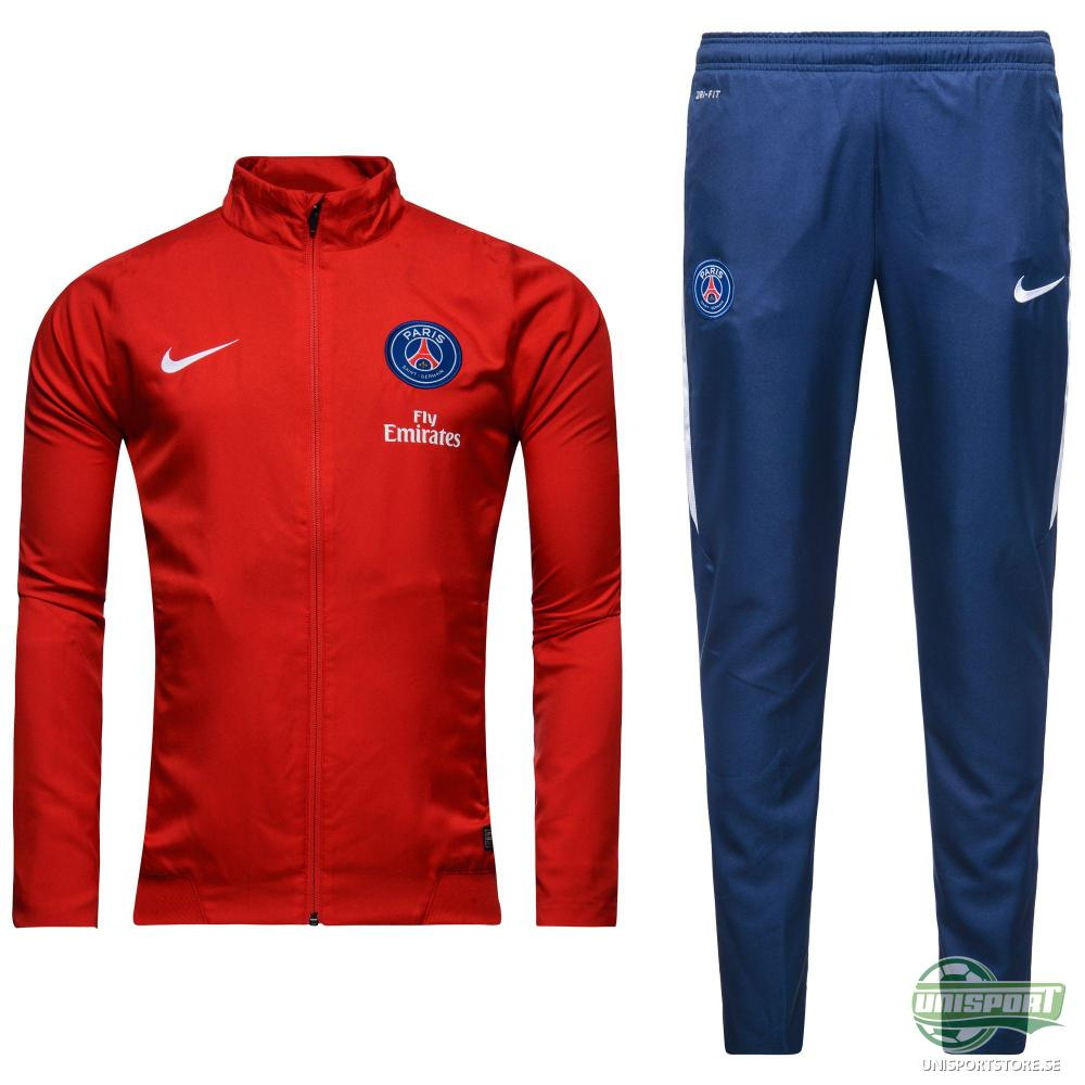 Paris Saint Germain Träningsoverall Revolution Sideline Woven Warm Up Röd/Vit