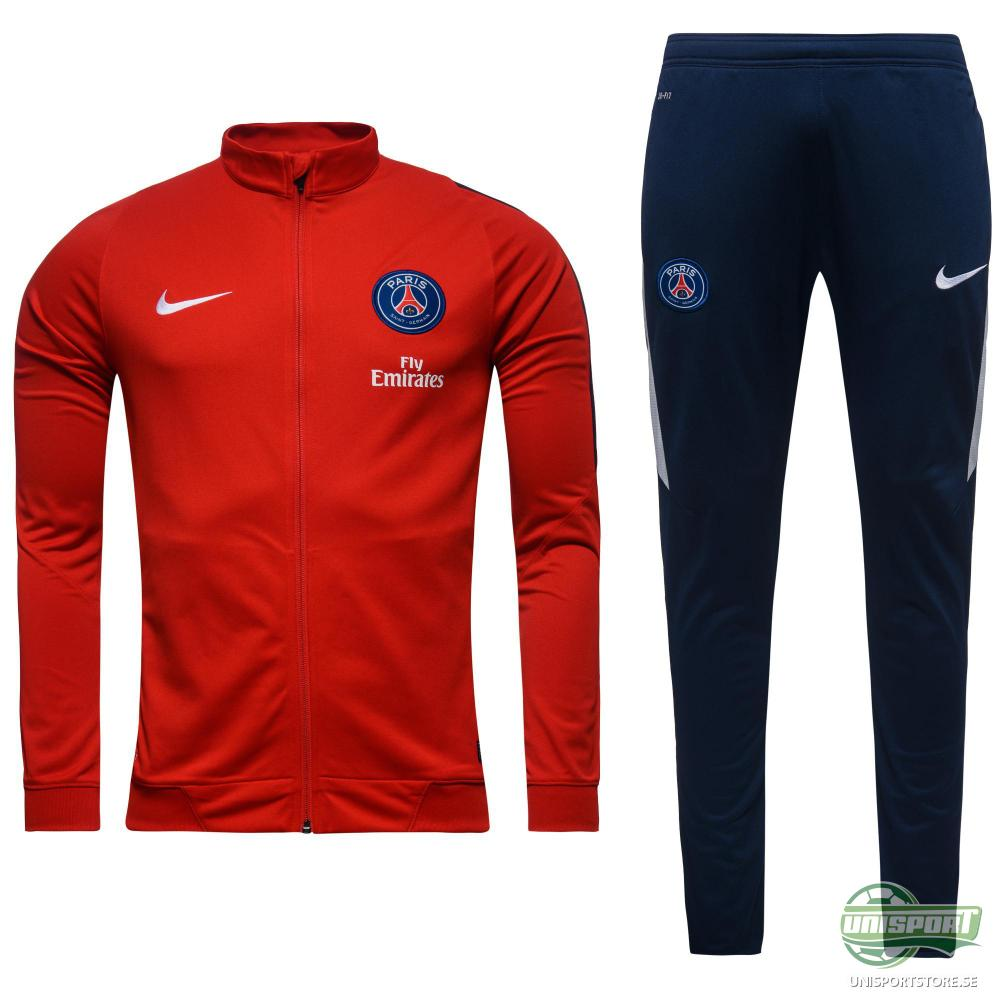 Paris Saint Germain Träningsoverall Revolution Sideline Knit Warm Up Röd/Navy