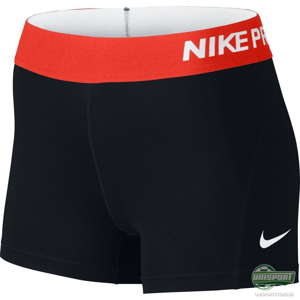 "Nike Pro Cool 3"" Shorts Svart/Röd Dam"