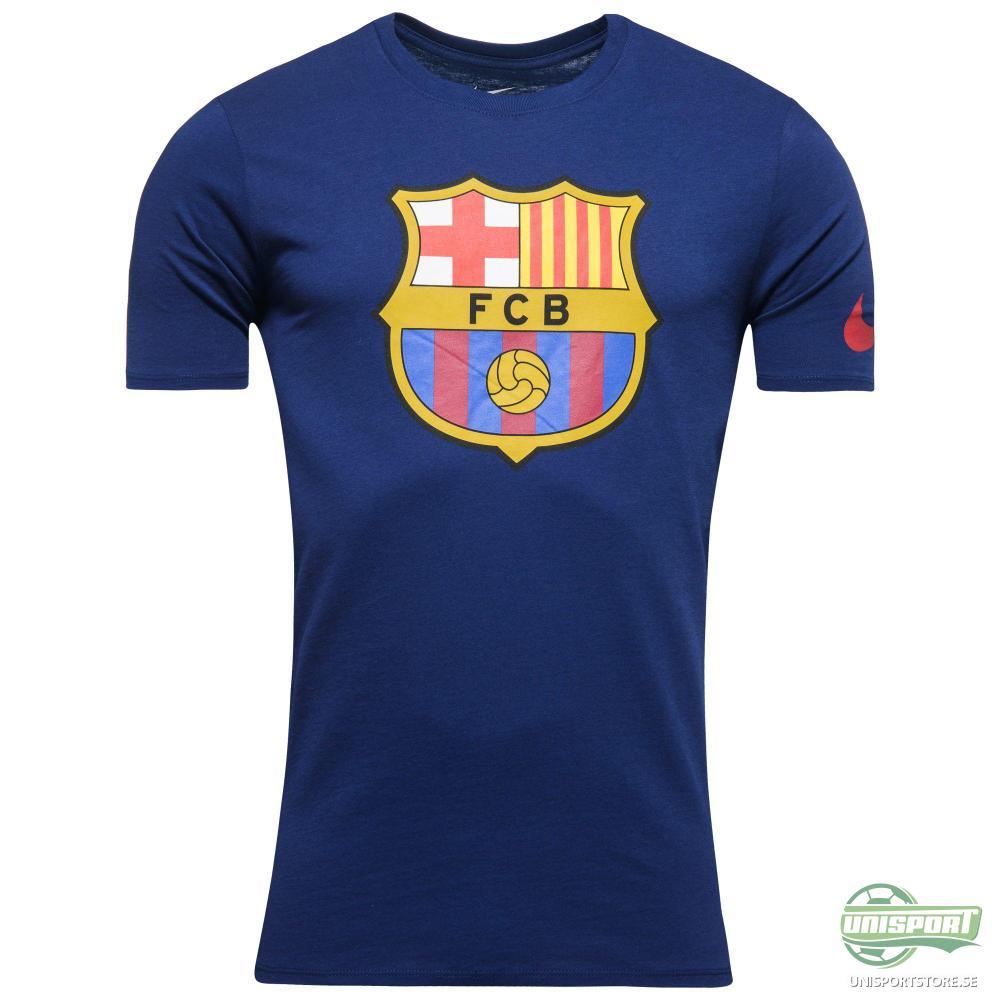 Barcelona T-Shirt Crest Blå