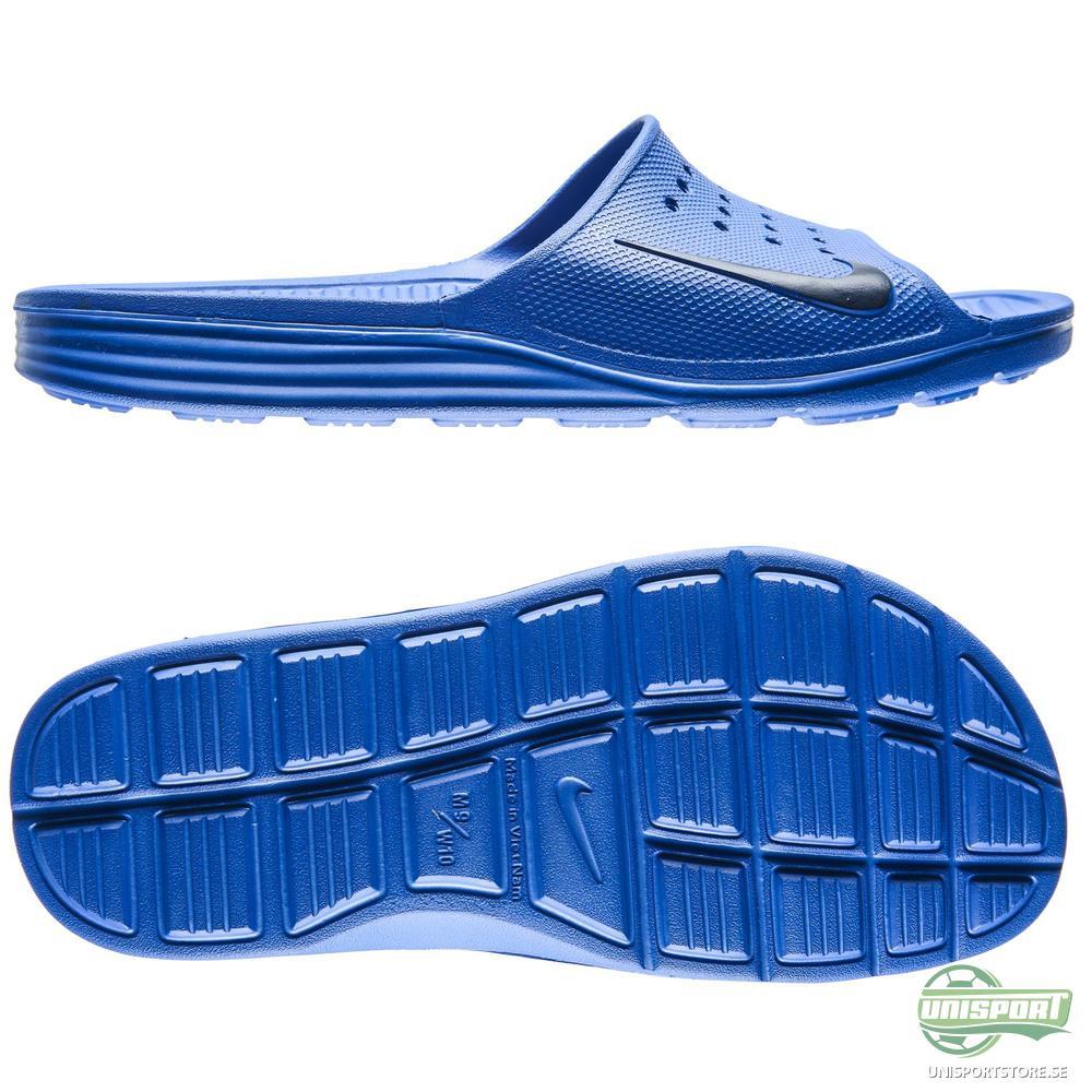 Nike Badtofflor Solarsoft Slide Blå/Navy