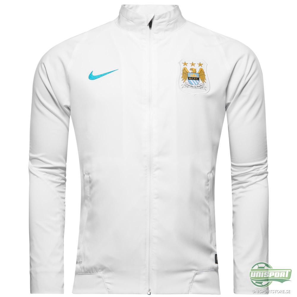 Manchester City Träningsjacka Revolution Sideline Woven Vit/Blå