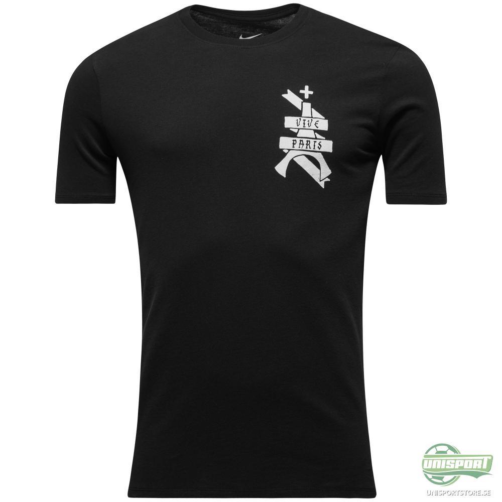 Paris Saint Germain T-Shirt 'Vive Paris' Svart/Vit
