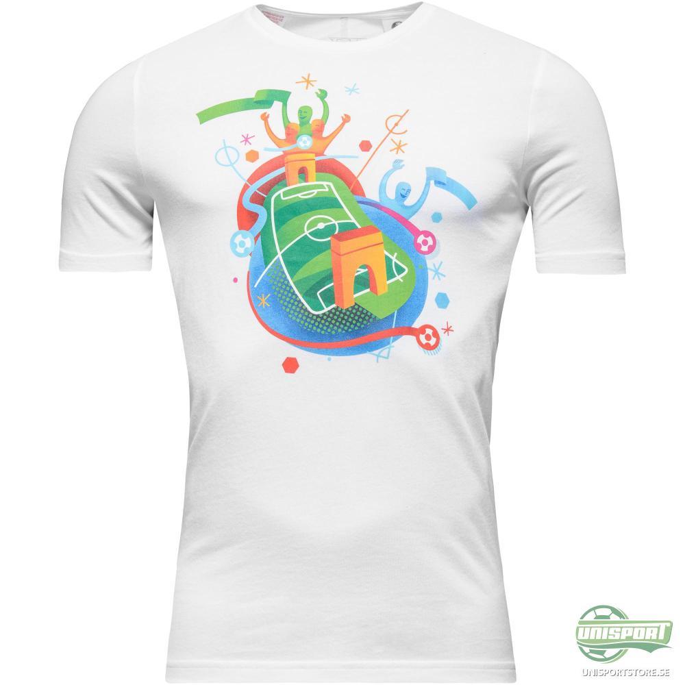 adidas T-Shirt Euro 16 Stadium Vit Barn