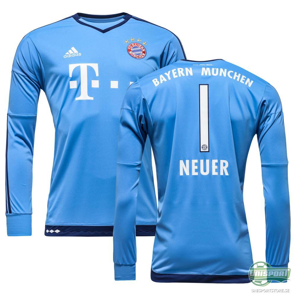 Bayern München Målvaktströja 2015/16 Blå NEUER 1 Barn