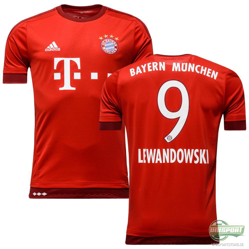Bayern München Hemmatröja 2015/16 LEWANDOWSKI 9 Barn