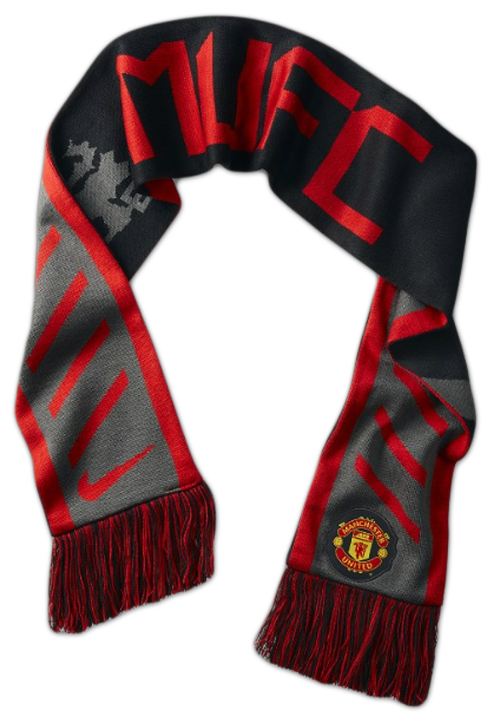 manchester united scarf mufc
