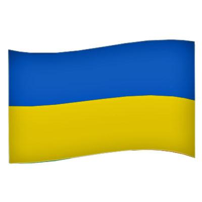 Ukraina Flagga