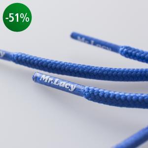 Mr. Lacy - Snørebånd Rund 130 cm Blå