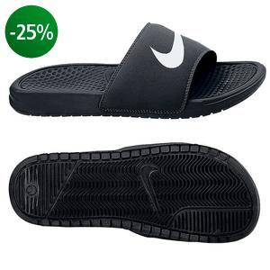 Nike - Badesandal Benassi Swoosh Sort