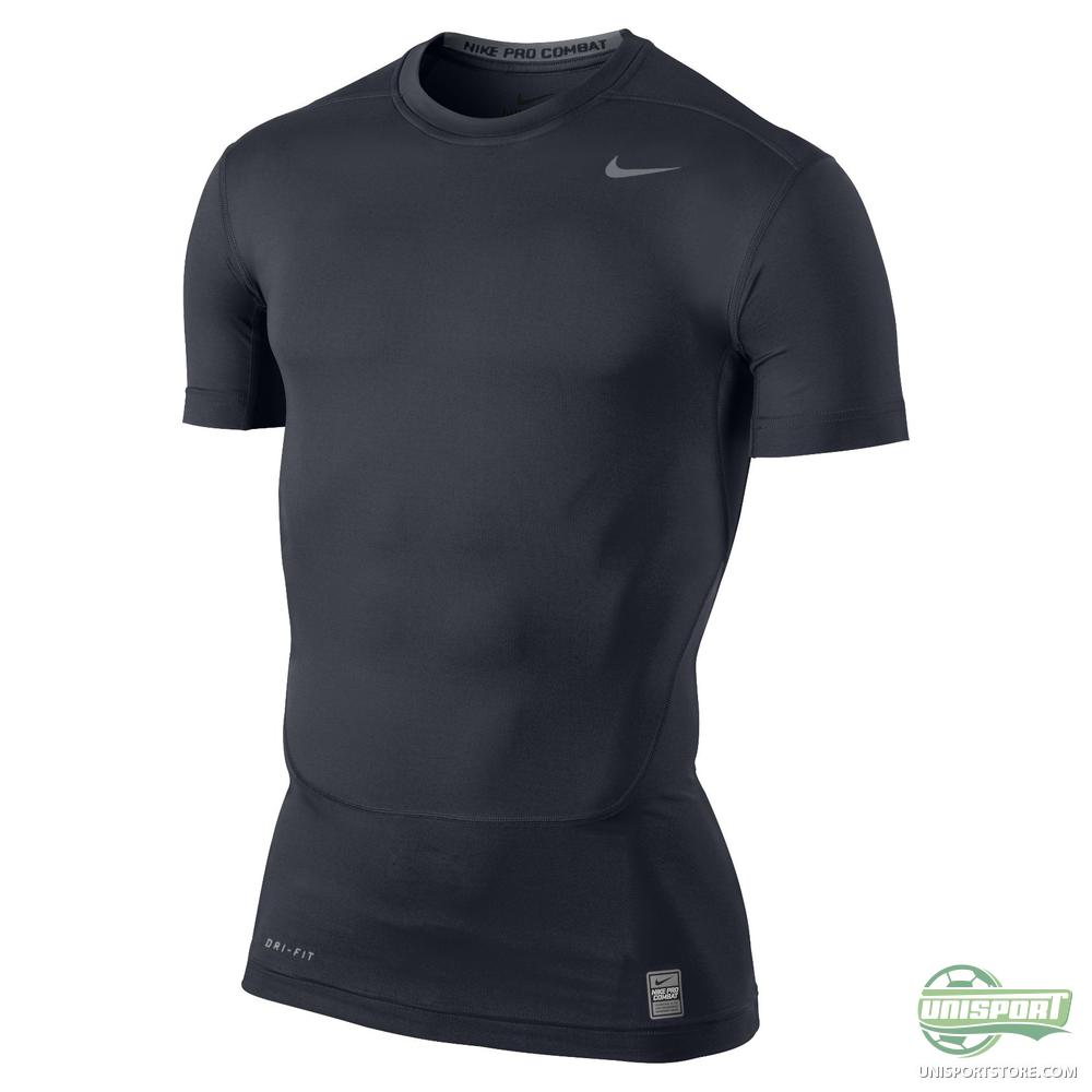 nike pro combat compression t shirt navy www