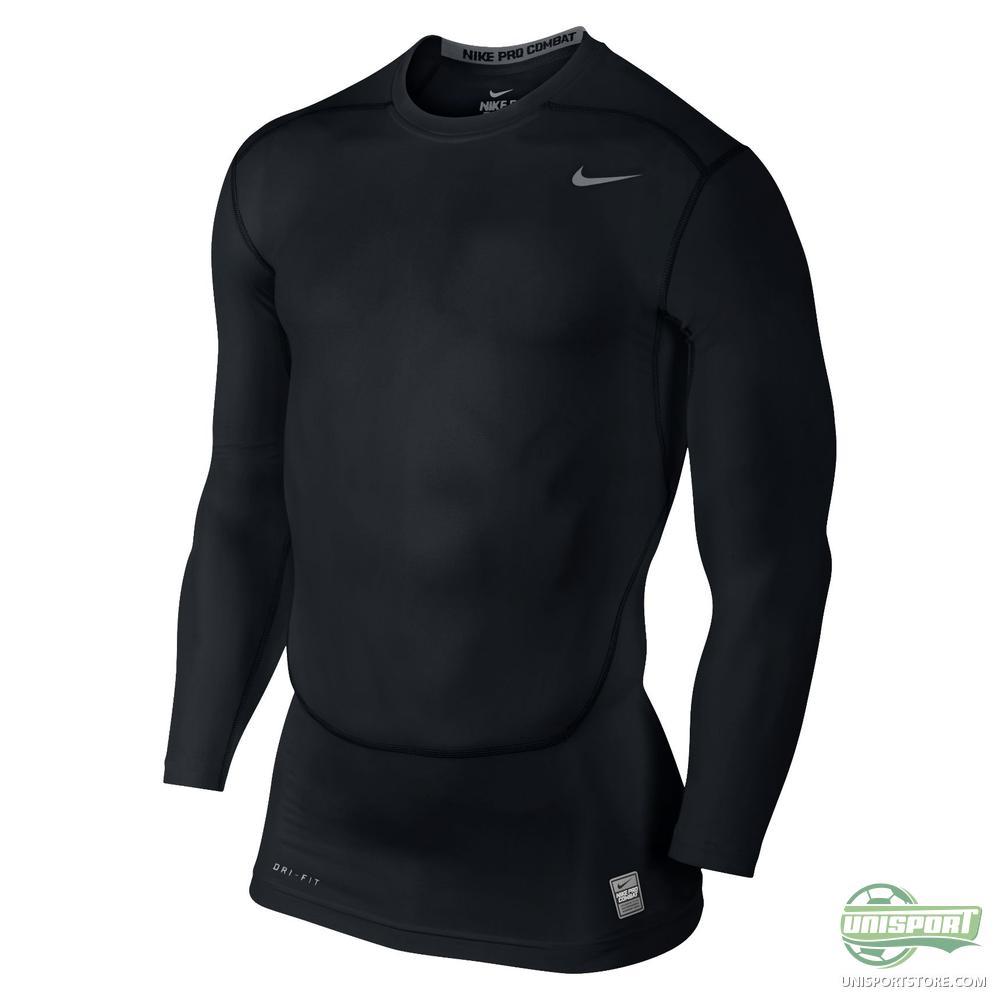 Nike Pro Combat Compression T Shirt L S Black Www