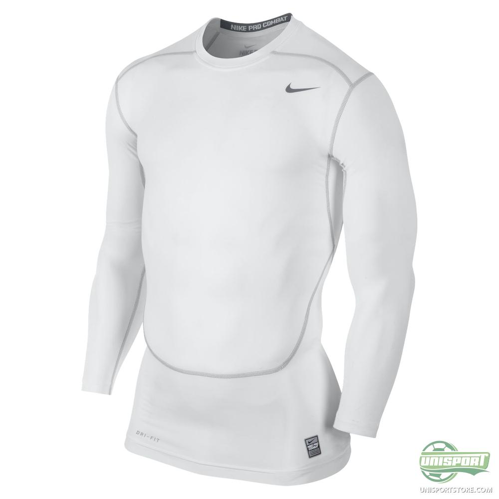 Nike Pro Combat Compression T Shirt Long Sleeved White