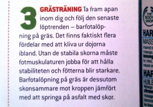 Grästräning - lånat från Varvet Nr 1, 2011