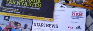 Startbevis Göteborgsvarvet 2011