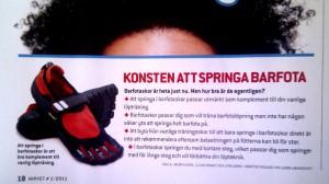 Konsten att springa barfota - Lånat från Varvet nr 1, 2011