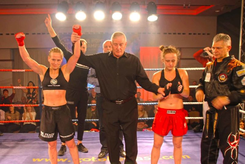 Cathy McAleer Wins By Ko over Polish champion Ciaskowska i