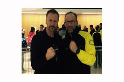 Billy Murray (left) with Johnny Davis