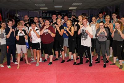 A New kickboxing Group at the ProKick Gym in Belfast