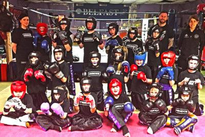 Week 2 New Kids kickboxing Sparring course
