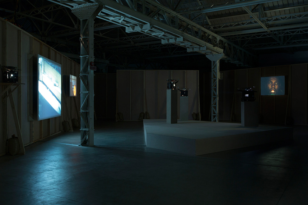 João Maria Gusmão and Pedro Paiva Papagaio Installation views Fondazione HangarBicocca, 2014 Photo by Agostino Osio Courtesy Fondazione HangarBicocca