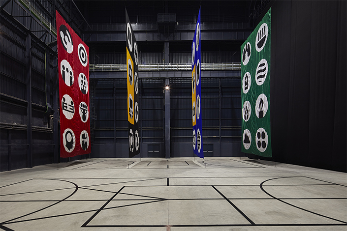 "Matt Mullican, ""The Feeling of Things"", exhibition view at Pirelli HangarBicocca, Milan, 2018. Courtesy of the artist and Pirelli HangarBicocca, Milan. Photo: Agostino Osio"