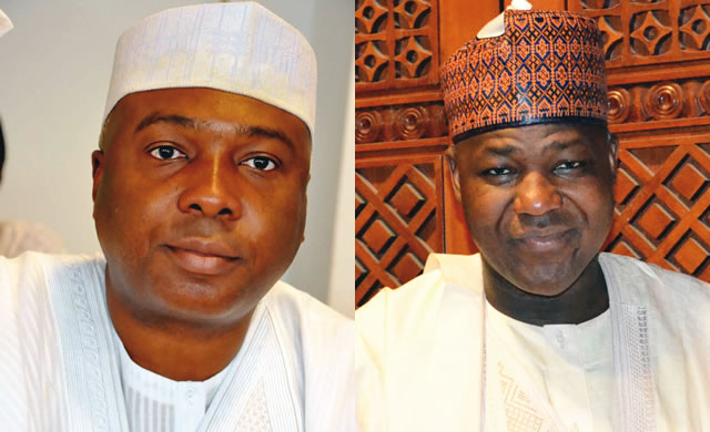 Image result for picture of Dogara and saraki