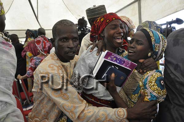 Chibok girls reunite with parents