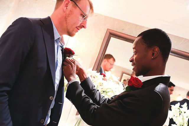 Popular Nigerian Gay Activist Bisi Weds His Lover Anthony