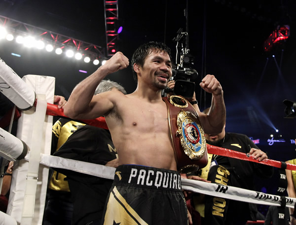 Pacquiao reclaimed the World Boxing Organization welterweight title for the third time with a unanimous decision victory over Vargas in comeback fight