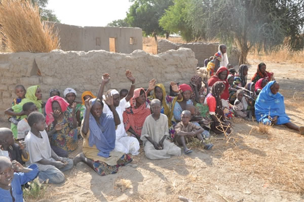 Image result for Nigerian Soldiers rescue 85 people held by insurgency