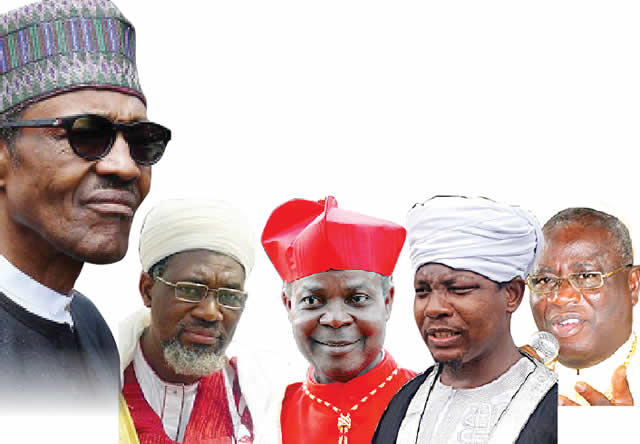 President Muhammadu Buhari and some religion leaders