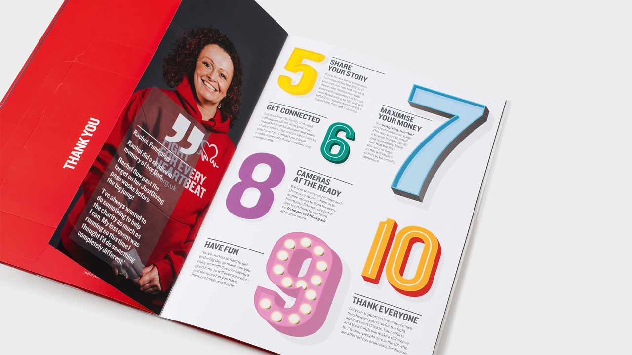 Fundraising print materials for a leading charity