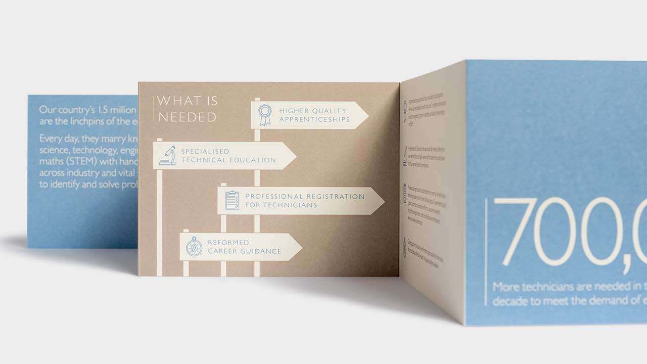 Marketing materials for Lord Sainsbury's charitable foundation