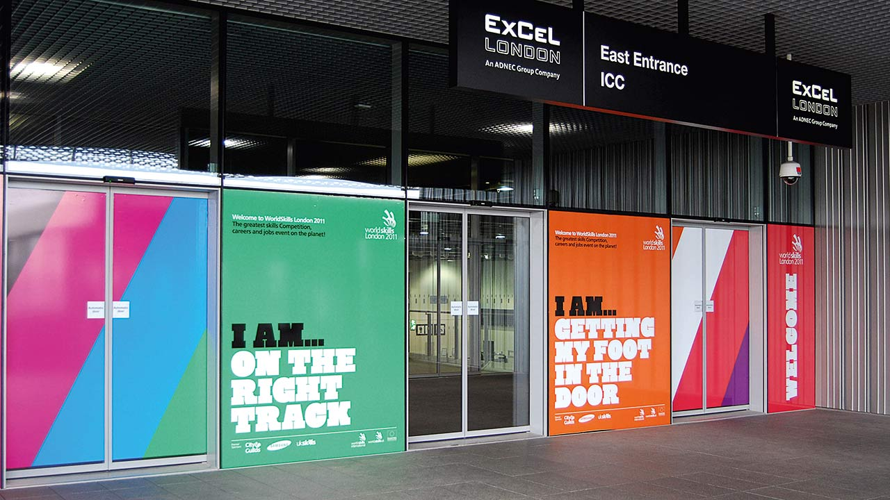 Wayfinding and signage for Europe's largest skills event, WorldSkills London