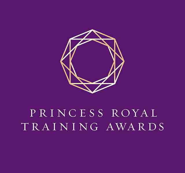 Purpose create the identity for the new Princess Royal Training Awards