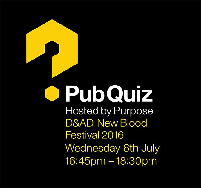 Heading to D&AD New Blood? Sign up for our quiz!