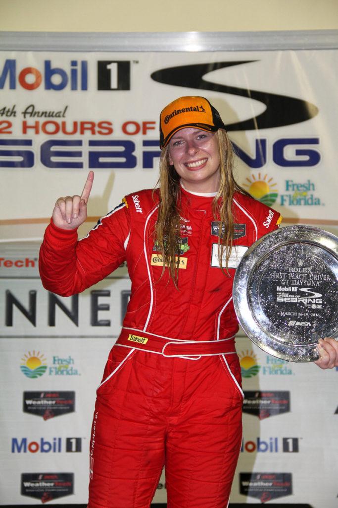 Christina Nielsen og Scuderia Corsa vandt GTD-klassen på Sebring. Foto: Jan Kaiser