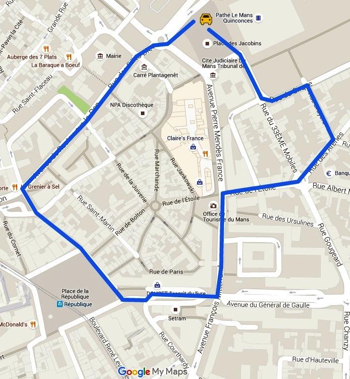 Le Mans kort - Google Maps